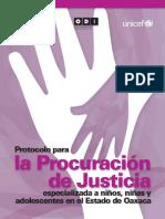 Protocolo Para La Procuracion de Justicia Especializada en Niñas