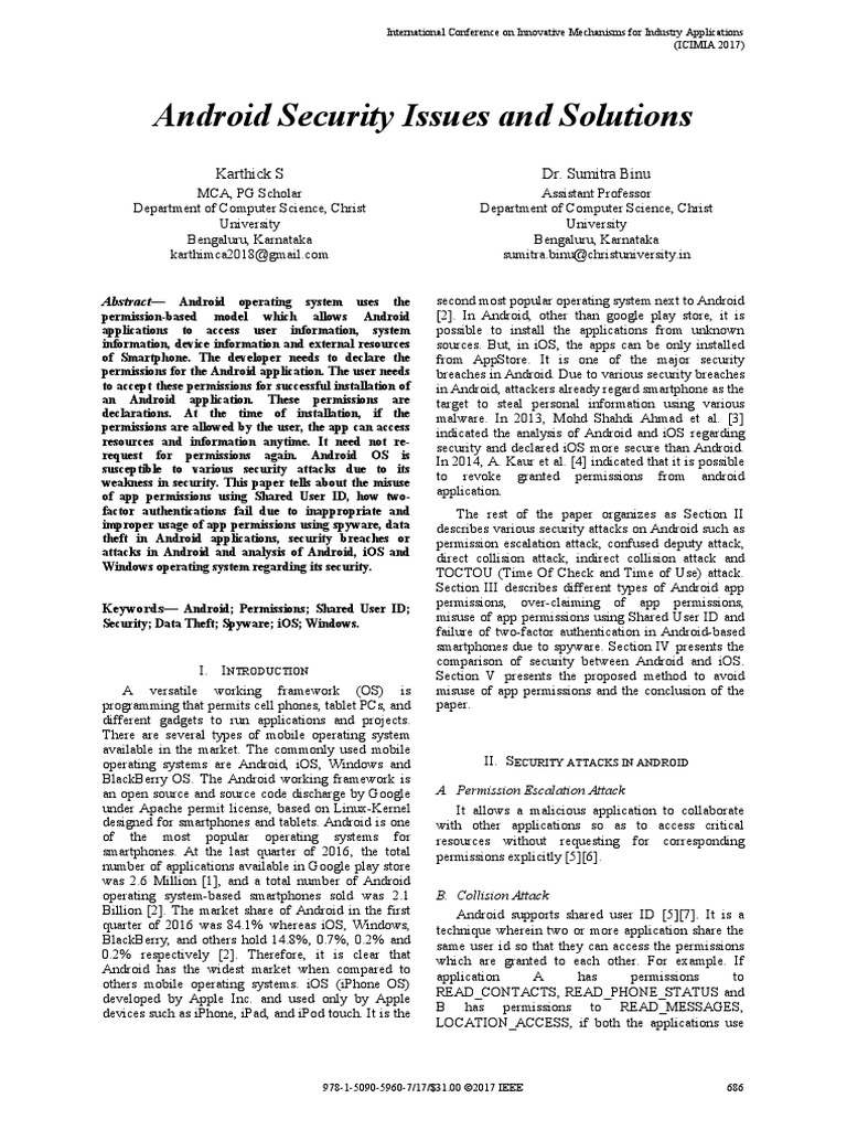 Paper Publication pdf | Android (Operating System) | Ios