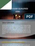 Gate Exam Qualified Jobs