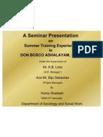A Seminar Presentation of Huma
