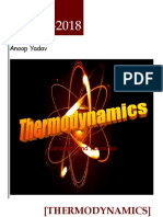 Thermodynamic concepts and formulas