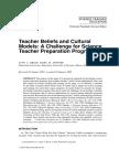 1) Teacher Beliefs and Cultural Models a Ch