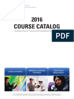 Oil and Gas Training Courses Catalog 2016