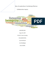 exploring the role of leadership in facilitating effective collaborative inquiry
