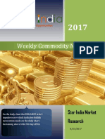 Weekly Commodity News Latter 21-8-2017