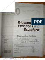 Trig Functions & Equations