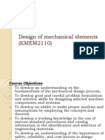 Design of Mechanical Elements