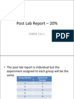 Post Laboratory Report Guidelines