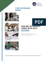 Guia Del Estudiante Ulpgc 20152016 Acceso