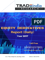 Derivative Daily Report for 21 Augest 2017- TradeIndia Research