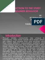 Intraduction to consumer behavior