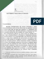Freeman f.s. 1990. Baterias Multifatoriais