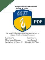 Critical Analysis of Daniel Latifi vs Un