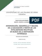 Intervención, Desarrollo y Mejora de La Educación a Partir de Las Inteligencias Múltiples