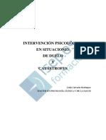 Intervencion Psicologica en Situaciones de Duelo Y Catastrofes