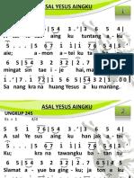 Ungkup 245 - Asal Yesus Aingku