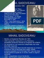 prezentare sadoveanu