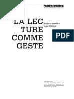 Julie Perrin - Barbara Formis La Lecture Comme Geste