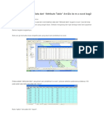 Cara Memindahkan Data Dari Arc Gis Ke Excel