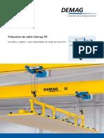 Demag Polipasto de Cable Catalogo Comercial Del Producto Con Especificaciones Tecnicas 423440