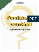 Gabarito APOSTILA Assistente Contábil