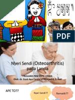 Nyeri Sendi (Osteoarthritis) Pada Lansia Cyntia