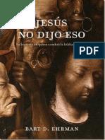 Ehrman Bart D Jesus No Dijo Eso