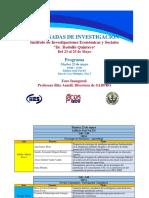 Programa IX Jornadas de Investigación IIES - FaCES - UCV