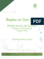 Reglas de Operacion API Puerto Carmen, Campeche