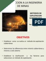 6METODOS EXPLOTACION SUBTERRANEA