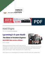 O 320 H2AD Engine Valve Problem
