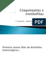 Alterações Da Cascata de Coagulação