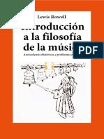 ROWELL, L. - Introducción a La Filosofía de La Música