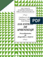 LIBRO..LOS ESTILOS DE APRENDIZAJE (PROCEDIMIENTOS DE DIAGNÒSTICO Y MEJORA) Catalina M. Alonso; Domingo J. Gallego; Peter Honey (7a. Ediciòn).pdf