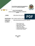 Bases Biologicas Del Cancer- Seminario IV- Biologia Celular y Molecular