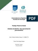 Tfg. Estados Borderline Una Aproximacion Psicoanalitica. Federico Gutierrez Gorga