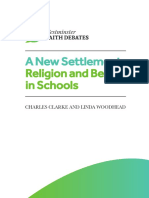 A New Settlement for Religion and Belief in Schools