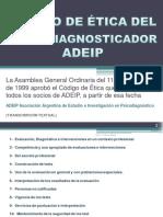 ADEIP Codigo Etica Psicodiagnosticador (by CA)