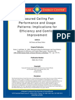 Measured Ceiling Fan Performance and Usage Patterns