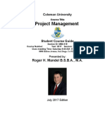 Project Management July 2017