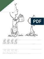 15 - LETRA O - Atividades de Alfabetização Em Pontilhado Cursiva Com Desenho Para Colorir