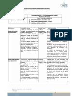 Ficha de Registro Actividades Semanales 3 ARROYO YOHANNA PED en INGLES Agosto