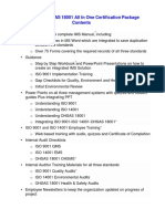 Ims Iso 9001 Iso 14001 Ohsas 18001 All in One Package