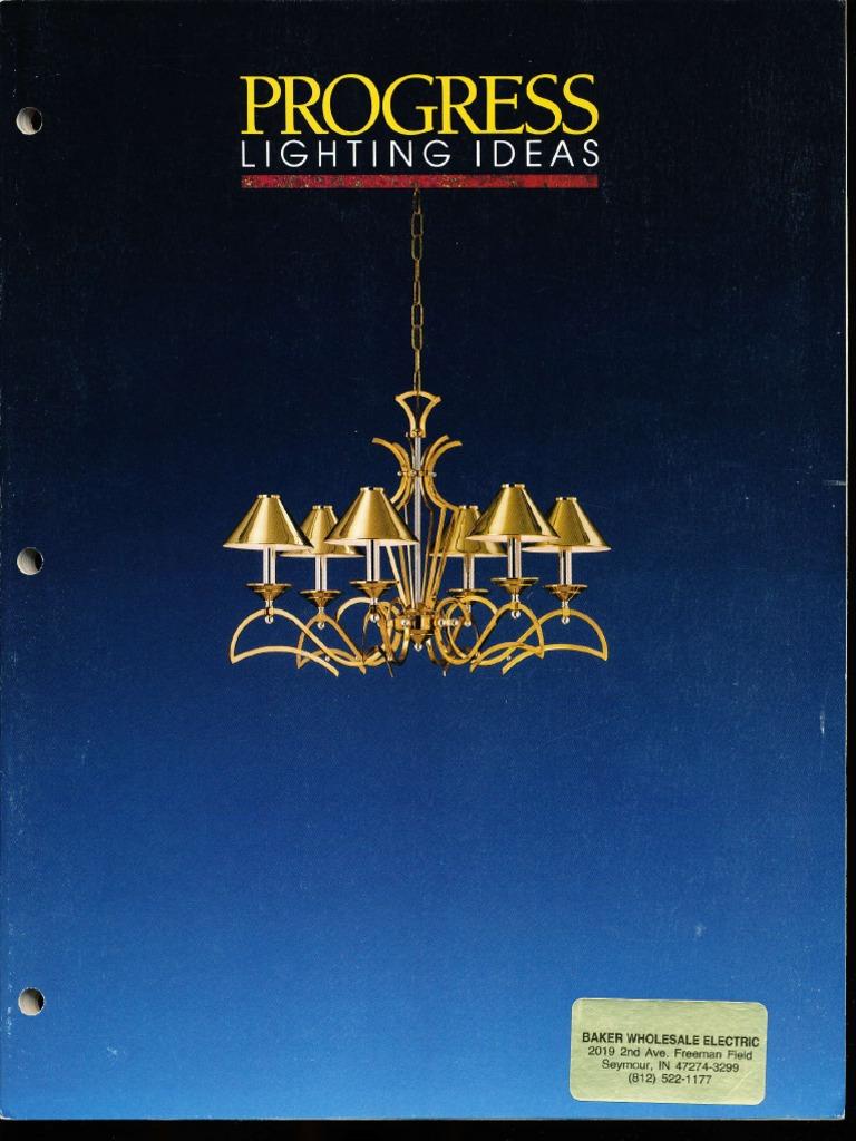 Progress Lighting Catalog 1990 Decorative Arts