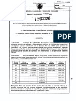 Decreto 4050 -2008 Materia Salarial Dian