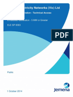 Large Embedded Generation Technical Access Standards