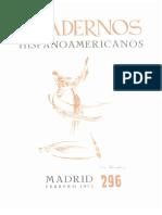 1975 Cuadernos Hispanoamericanos #296
