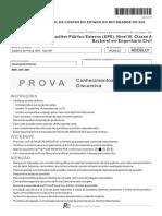 Fcc 2014 Tce Rs Auditor Publico Externo Engenharia Civil Conhecimentos Basicos Prova