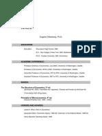 Eugene Silberberg-Academic Resume