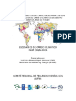 Escenarios de Cambio Climatico en Cr